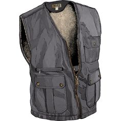 Iron Range Fire Hose Berber-Lined Winter Vest from Duluth Trading Company is undaunted by harsh conditions, cold or grueling labor.