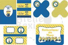 Kit Festa Digital Tema Minions. Encomendas e Orçamentos: ateliebexiga@gmail.com