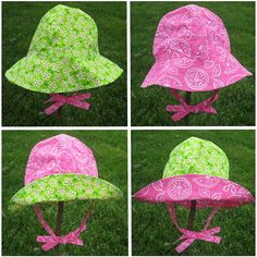 4 in 1 Sun Hat Pattern & Tutorial in 6 Sizes  $3.99