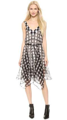 Marissa Webb Chelsea Check Print Dress