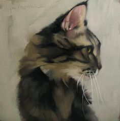 """High Jinks a cat painting by Diane Hoeptner"" - Original Fine Art for Sale - © Diane Hoeptner"