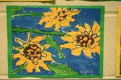 1st Grade Sunflowers | Dali's Moustache