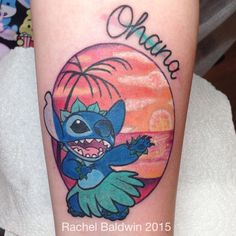 One of two super fun Lilo and stitch couples tattoos I got to make the other day  @boldasbrasstattoo #disneytattoos