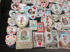 (68) VINTAGE VALENTINES DAY CARDS WHITNEY MADE HEARTS SCALLOPED EDGES CHILDREN++ | eBay