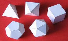 SOLIDS: hold their shape molecules vibrate in place crystalline structure Platonic Solid, Kinetic Art, Paper Models, Shapes, Math, Crafts, Diagram, Science, Craft Ideas