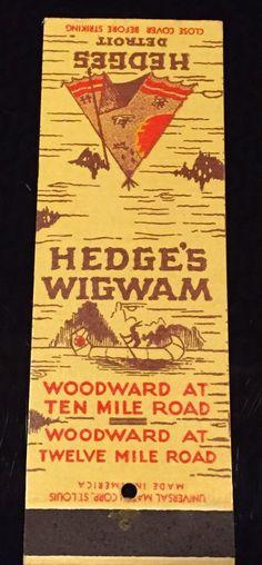 1940s Hedge's Wigwam, Royal Oak, Michigan, Detroit, Unstruck