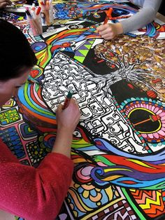 Bespoke Colouring-in Art- Giant Colouring Wall | www.contrabandevents.com