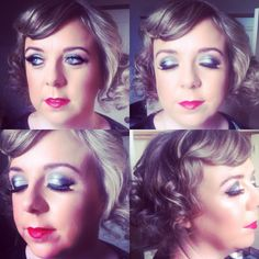 1920's Makeup & Hair Sliver Smokey Eye with Red Lip and Faux Bob.  Makeup n hair by me!
