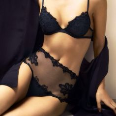 Lingerie - hight waisted - black - Hug those curves with see through material, very #sexy #lingerie