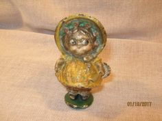 ANTIQUE HUBLEY DOLLY DIMPLE GIRL DRESS CAST IRON ART STATUE DOLL TOY PAPERWEIGHT  | eBay