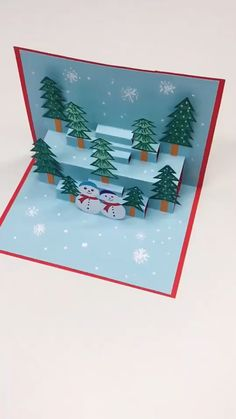Cute Craft Christmas Decor - How to make the simple Christmas ornaments card? - Cute Craft Christmas Decor - How to make the simple Christmas ornaments card? Diy Crafts For Gifts, Cute Crafts, Holiday Crafts, Crafts For Kids, Diy Arts And Crafts, Crafts To Make, Wooden Christmas Ornaments, Merry Christmas Card, Christmas Art