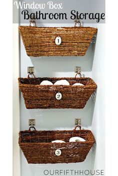 12 DIY Bathroom Ideas @CraftBits & CraftGossip Behind the toilet, but with a reclaimed piece of wood for a shelf inbetween the #1 and #2.