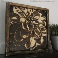 Wood Staining Techniques, Paint Shades, Blossom Flower, Pyrography, Wood Art, Wood Projects, Shabby, Diy Crafts, Rustic