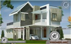Indian Home Architecture Plans Free House Design, Best Modern House Design, Latest House Designs, House Front Design, Small House Design, Small Contemporary House Plans, Modern House Floor Plans, House Plans With Pictures, House Design Pictures