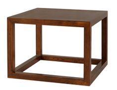 Mesa de Rincón cuadrada en madera de olmo. Medida 60A X 60F X 45h Disponible en otros acabados