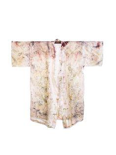 Bush Dyed Silk Robe by Annabell Amagula
