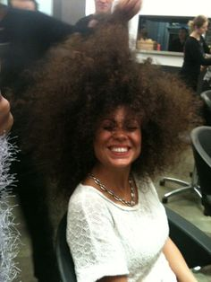 In love with her hair!! Natural hair