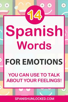 Learn how to express your feelings and emotions and describe your family and friends in Spanish. Happy In Spanish, Spanish Love Phrases, Simple Spanish Words, Mexican Spanish, Spanish Vocabulary, Teaching Spanish, Spanish Classroom, Spanish Grammar, Spanish Activities