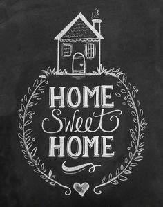 Home Sweet Home Chalkboard Art Print Like this for a cross stitch
