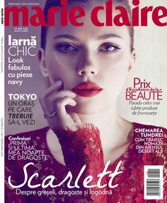 Scarlett Johansson - Marie Claire Magazine Cover [Romania] (February 2014)