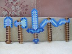 Minecraft Weapons & Items Perler Bead Art -- Choose Your Item & Style