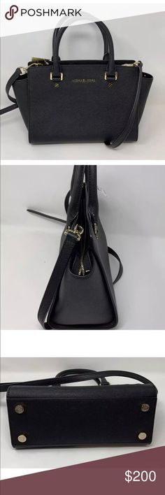 74df24fa4b585 Michael Kors Saffiano Leather Black Selma This beautiful purse is brand new  with tags and all. Never used. Original pricing is  298.
