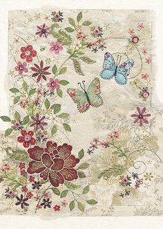 BugArt ~ Tapestry. Amy's Cards *NEW* Original embroideries by Amy Butcher. Cards designed by Jane Crowther.