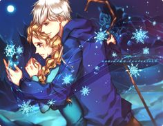 Not Alone by naochiko on deviantART | Frozen's Elsa and Rise of the Guardians' Jack Frost