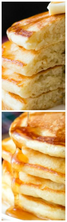 Thick, Fluffy Eggnog Pancakes ~ Delicious... Perfect for holiday breakfasts.