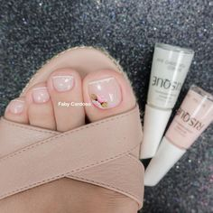 Nude Nails, Pink Nails, Acrylic Nails, My Nails, French Tip Nail Designs, French Tip Nails, French Pedicure, Manicure E Pedicure, Beautiful Toes