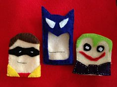 Batman & Robin Vs The Joker by feltytales on Etsy, $20.00