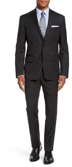 131cb2bc1 Nordstrom Men's Classic Fit Check Wool Suit Man Shop, Wool Suit, Nordstrom,  Men's