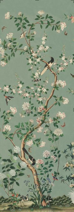 Chinoiserie Wallpaper, Room Wallpaper, Wallpaper Backgrounds, Iphone Wallpaper, Chinese Garden, Chinese Art, Chinese Prints, Chinese Background, Chinese Wallpaper