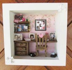 Hecho a mano placa recortada de casa de muñecas en miniatura de placas x 4 en Cath Kidston Rosas
