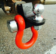 Tow hook on ball mount Truck Mods, Jeep Mods, Quad, Rzr Accessories, Kayak Trailer, Tacoma Truck, Custom Trailers, Jeep Commander, Ford Excursion