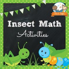Bugs and insects theme unit for preschool, pre-k and kindergarten. Ideas, activities, and printables for math and literacy.