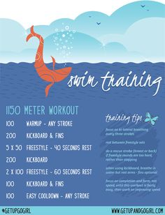 1150 meter swim workout by my swim coach Kohl, to get ready for my Sprint Triathlon