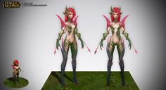 Zyra Rise of Thorns High Res Sculpt by SladeDigital on deviantART