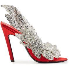 3900028599b5 Balenciaga Embellished Satin Sandals ( 1
