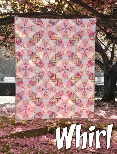 """Whirl"" quilt by Mary McGuire. Free pattern at http://www.marymcguiredesign.com/Whirl-McGuire.pdf"