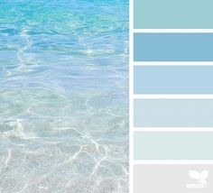 Escape Could be beautiful to base a house color palette off of ocean colors.Could be beautiful to base a house color palette off of ocean colors. Coastal Colors, Ocean Colors, Ocean Color Palette, Beachy Colors, Coastal Decor, Interior Paint Colors, Paint Colors For Home, Interior Design, Interior Ideas