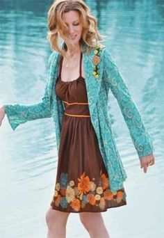 Summer Dress with Jacket fashion jacket summer fashion summer dress