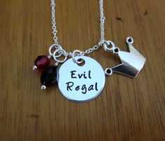 Evil Regal Necklace. Once Upon A time Inspired Necklace. Once necklace. Silver colored. by WithLoveFromOC - Item:2017-03-04 04:10:10
