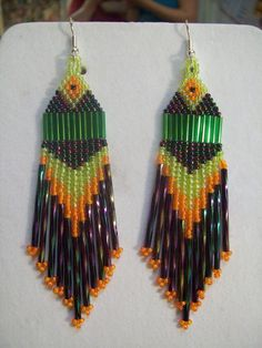 Native American Beaded Peacock Green and by BeadedCreationsetc, $20.00