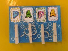 Memobord vaderdag Diy Crafts To Do, Crafts For Kids, Arts And Crafts, Mother And Father, Mother Gifts, Underwater Crafts, Cadeau Parents, Hubby Birthday, Work Gifts