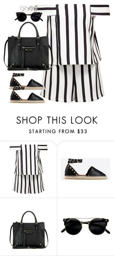 """Untitled#4372"" by fashionnfacts ❤ liked on Polyvore featuring Topshop, Valentino, Balenciaga and ASOS"