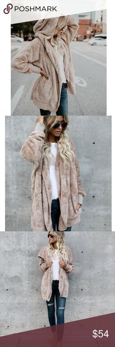 New Teddy Bear Soft Hoodie Sweater Jacket Faux Fur PRICE FIRM This sweater / jacket is so soft is feels like a cozy blanket! One size. Boutique Sweaters
