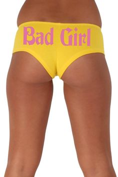 Women's Sexy Hot Booty Boy Shorts Bad Girl Gothic Pink Bold Style Type Lingerie