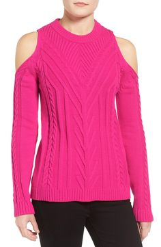 Perfect Pink Cold Shoulder Sweater On Sale!
