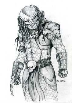 Predator. My Pencil drawing. 2006
